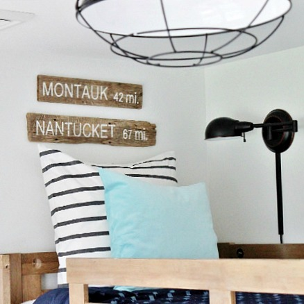 Modern Coastal Boy's Bedroom Reveal