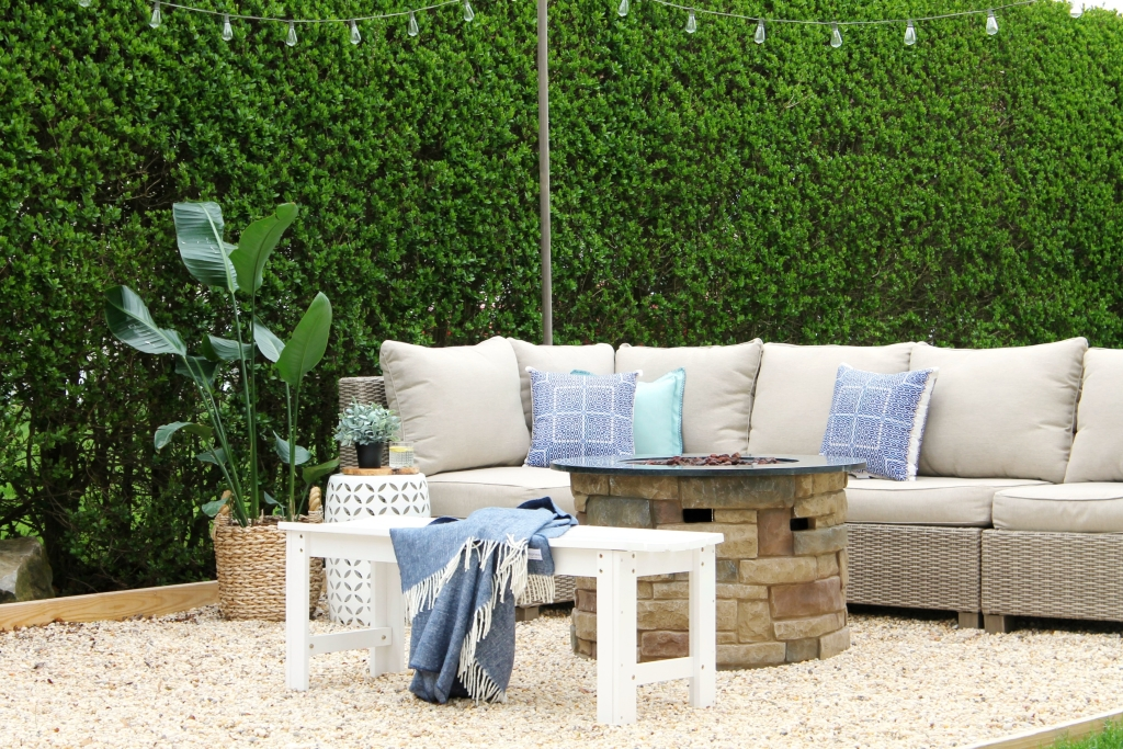 Patio Challenge Before & After With Joss & Main-Allen & Roth Outdoor Sectional 2