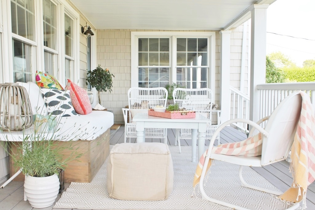 Design Series on You Tube-How to design a space from the beginning. Summer Farmhouse Front Porch.