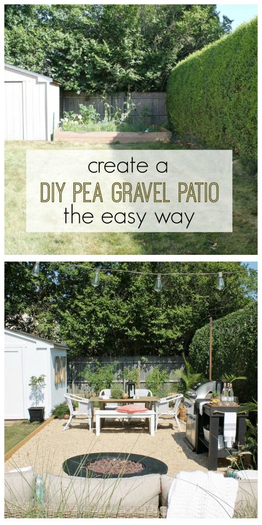 Create A DIY Pea Gravel Patio The Easy Way - City Farmhouse on economical backyard ideas, simple backyard ideas, eco friendly backyard ideas, easy low maintenance landscaping ideas, safe backyard ideas, affordable backyard ideas, no mow backyard design, low maintenance front yard landscaping ideas, dog-friendly backyard landscaping ideas,