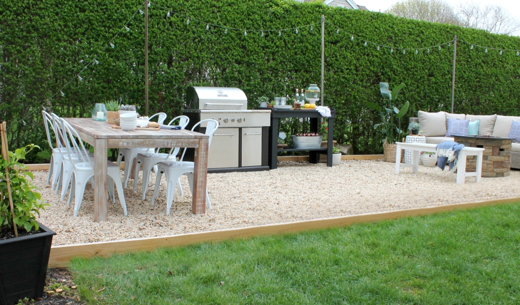Pea Gravel Patio Makeover With Joss & Main