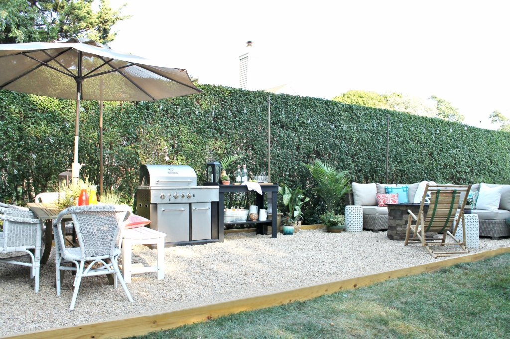 Create A DIY Pea Gravel Patio The Easy Way - City Farmhouse on Pea Gravel Yard Ideas id=13395