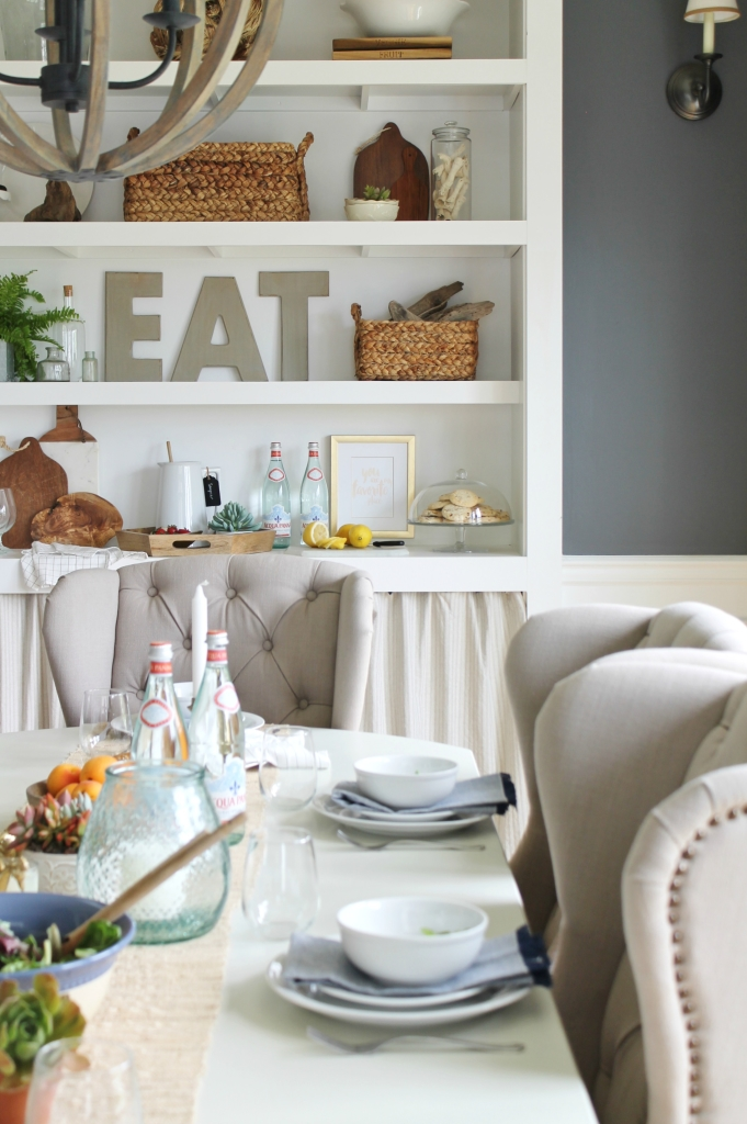 Summer Tour-Dining Room-Bookcase Ideas for Summer 2