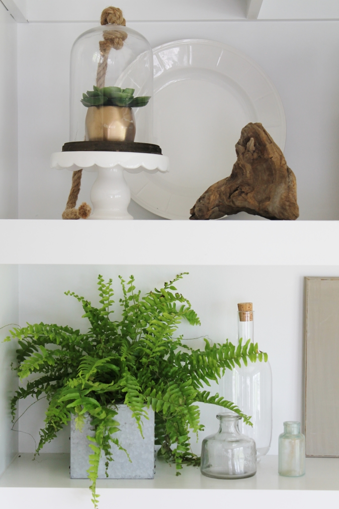 Summer Tour-Dining Room-Open Shelving-Succulents & Driftwood