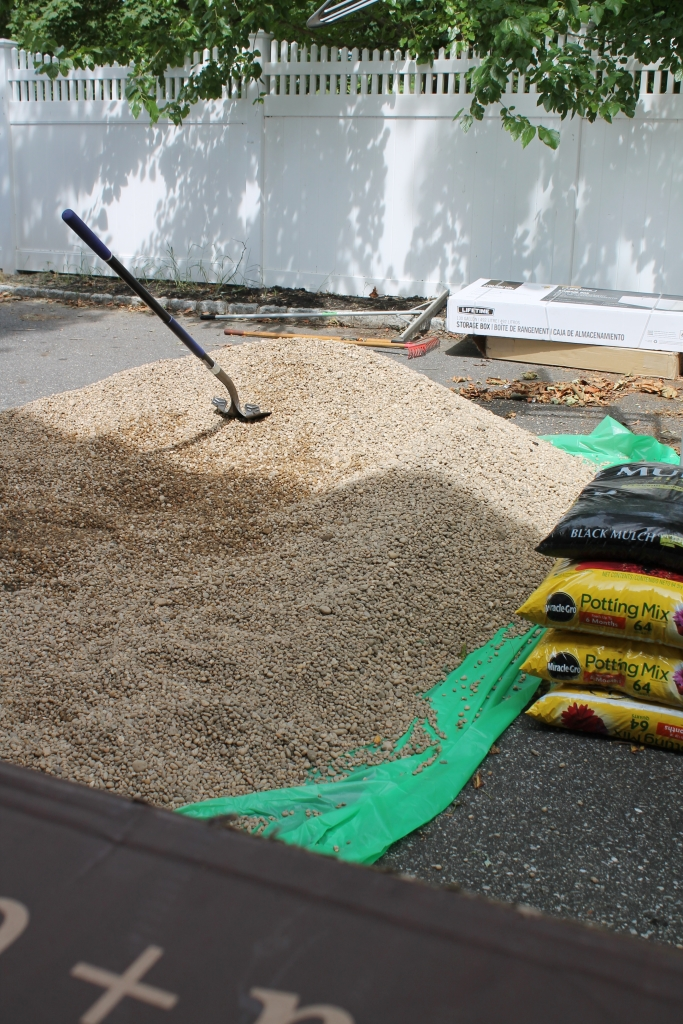 Pea Gravel for Patio-How Much we needed