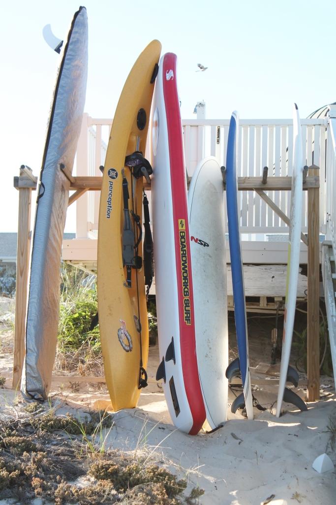 Beach Club-Surf Boards at Dusk