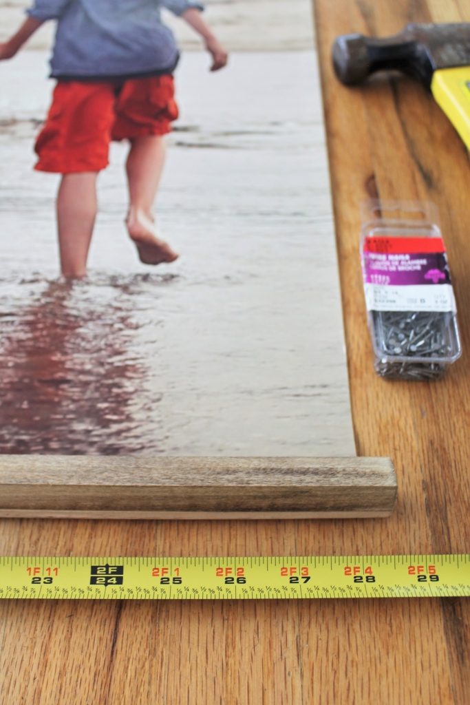 Easy DIY Frame With Large Photo-What It Looks Like From The Top