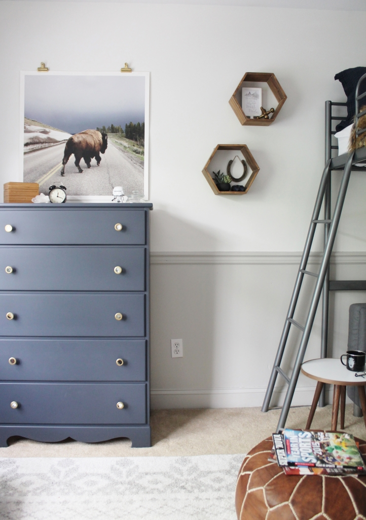 Rustic Boys Tween Room Makeover-Modern Touches