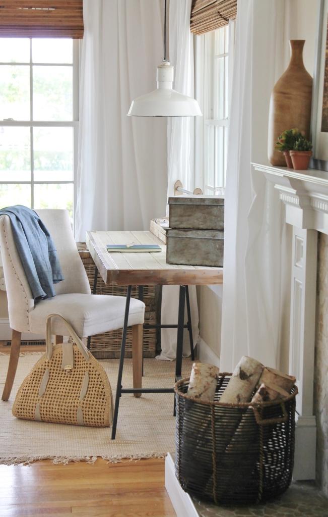 Summer Family Room-Ikea Hack Desk