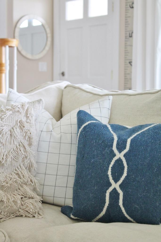 Summer Family Room-Indigo Wool Pillow Birch Lane