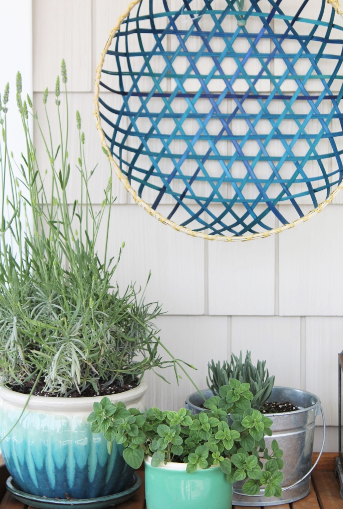 Summer Front Porch-Bar From Cost Plus & Baskets From West Elm Outlet