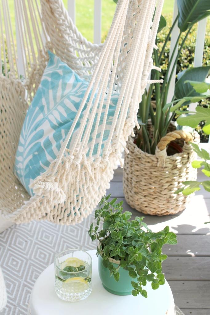 Summer Porch & Swinging Hammock