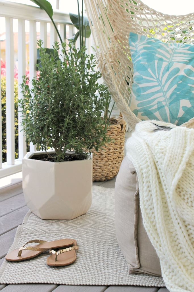 Summer Porch With Potted Herbs