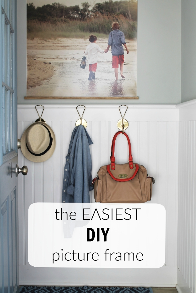 The Easiest DIY Picture Frame