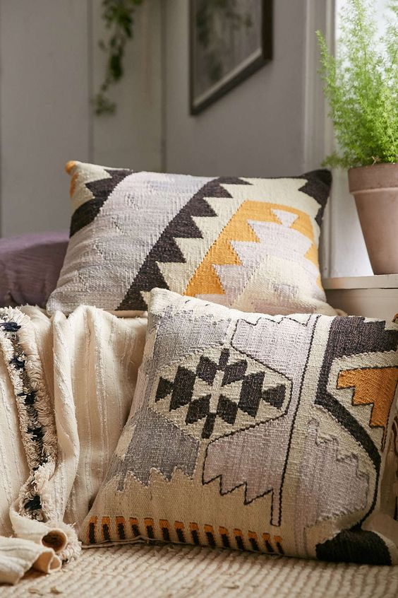 Fall Pillow Decor On Couch