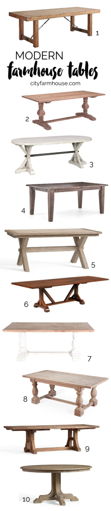 Farmhouse Tables - City Farmhouse