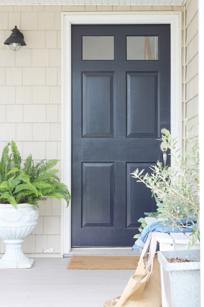 Front Door Makeover-Sherwin-Williams Anchors Aweigh