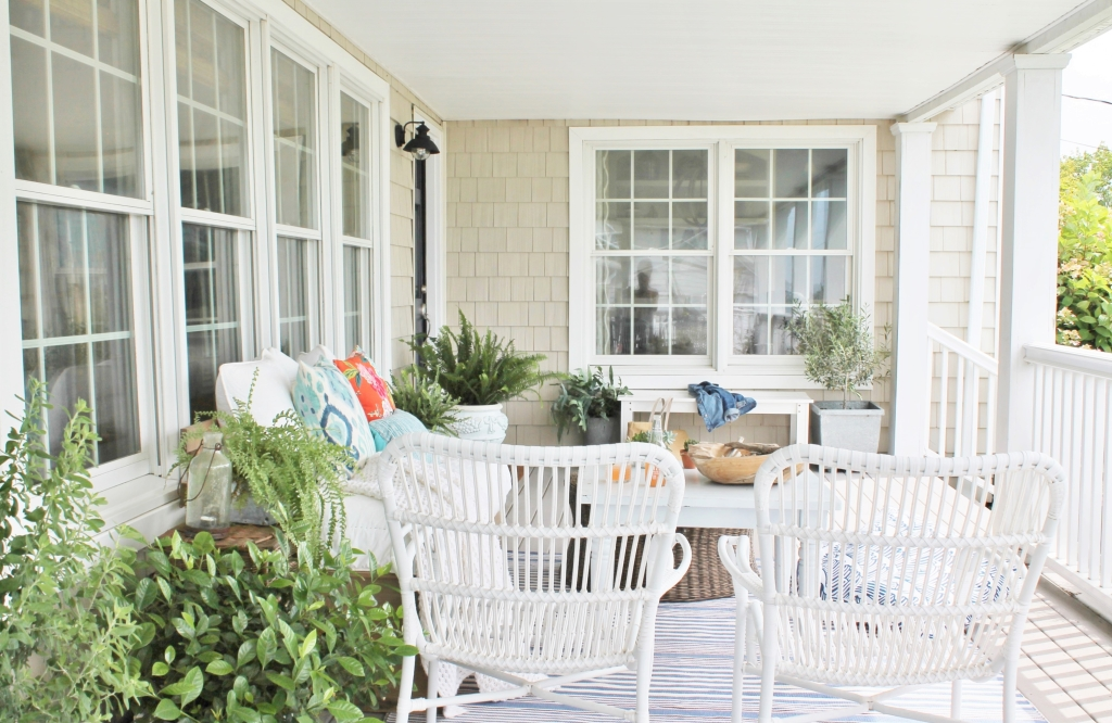 Front Door Makeover-Sherwin-Williams Anchors Aweigh & Front Porch Summer Updates