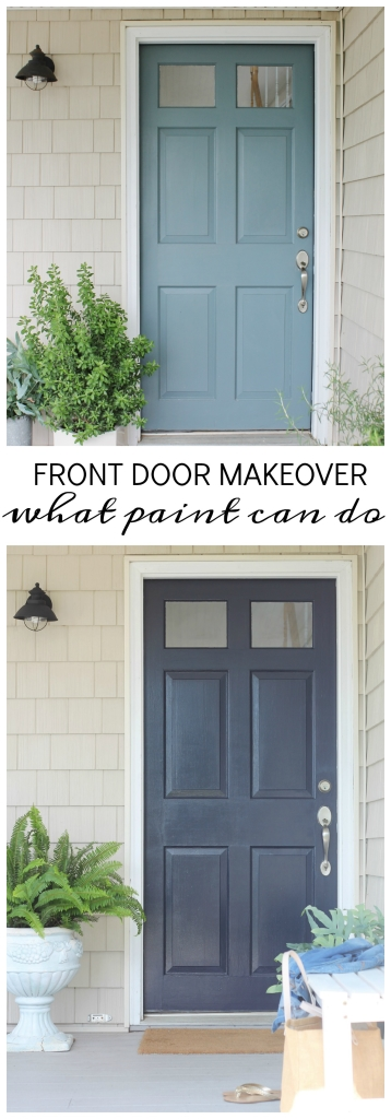 Front Door Makeover-What Paint Can Do