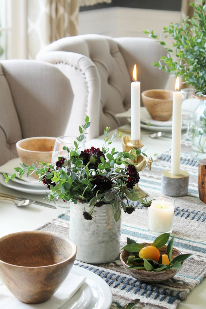 Cozy, Rustic + Modern Fall Dining Room Tour + Tablescape-City Farmhouse