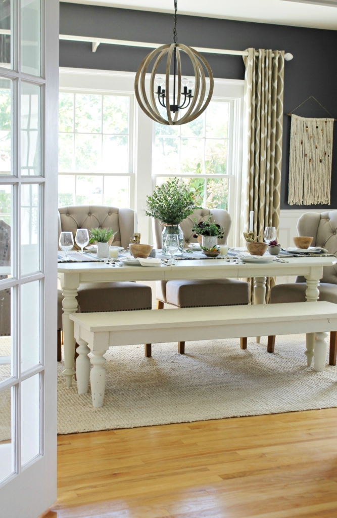 Fall Dining Room With Birch Lane Chandelier