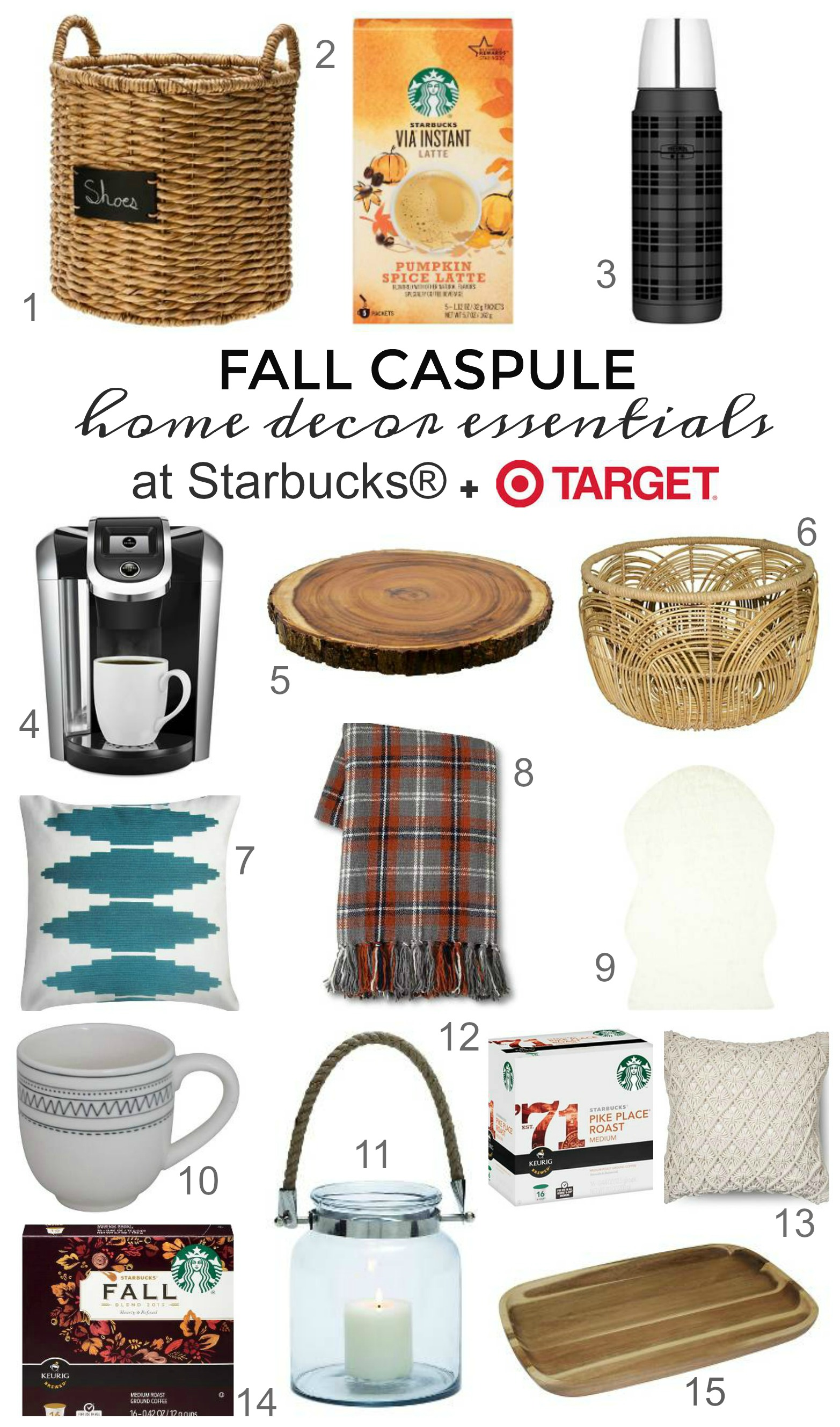 Fall Capsule Home Decor Essentails From Starbucks Target