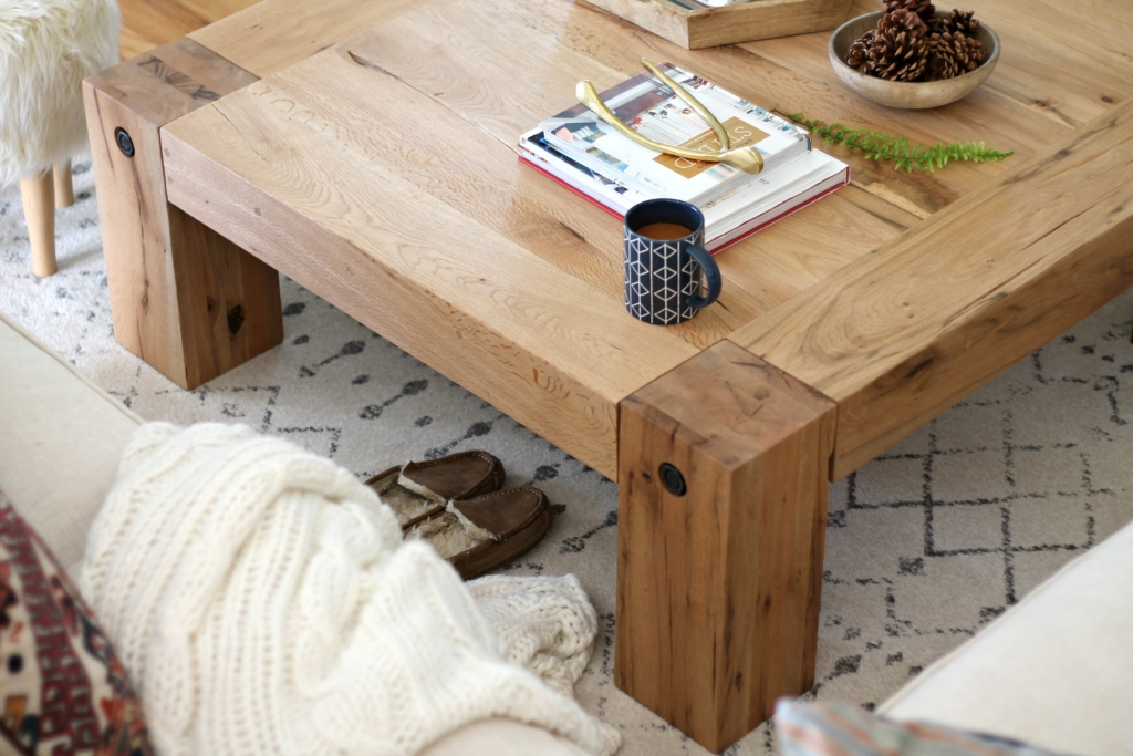 Modern Farmhouse Fall Family Room Tour-Industry West Coffee Table
