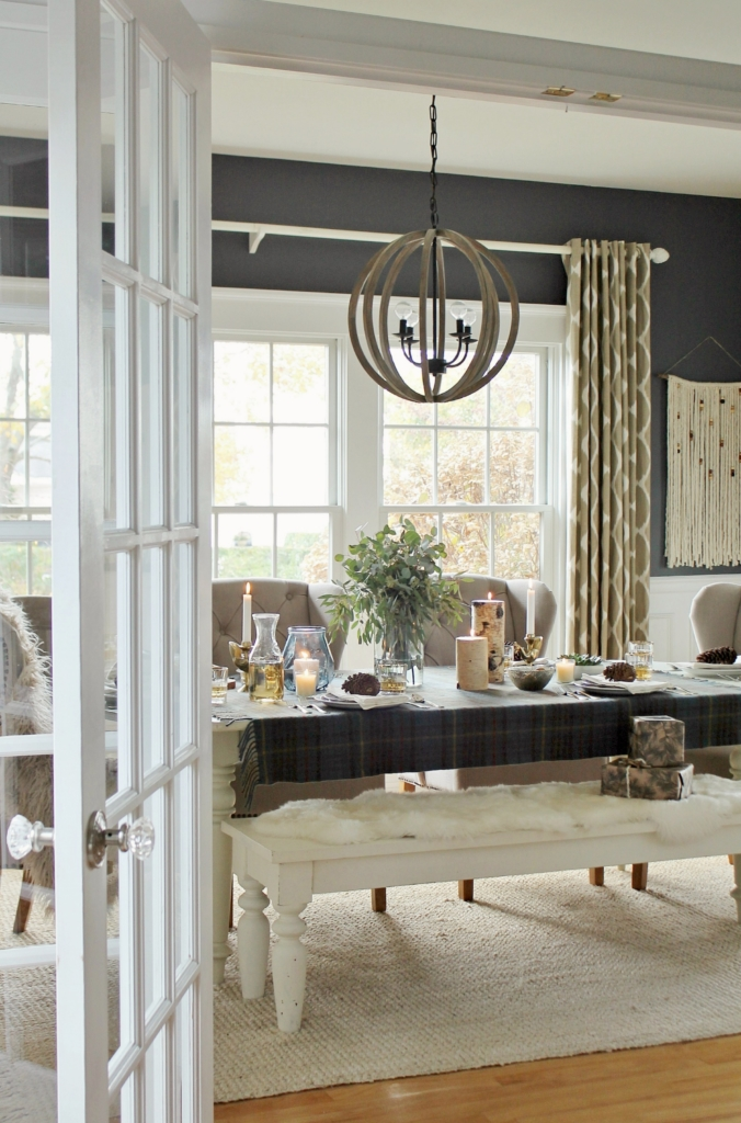 Warm And Cozy Dining Room Moodboard: Cozy Holiday Dining Room + Home Good Giveaway