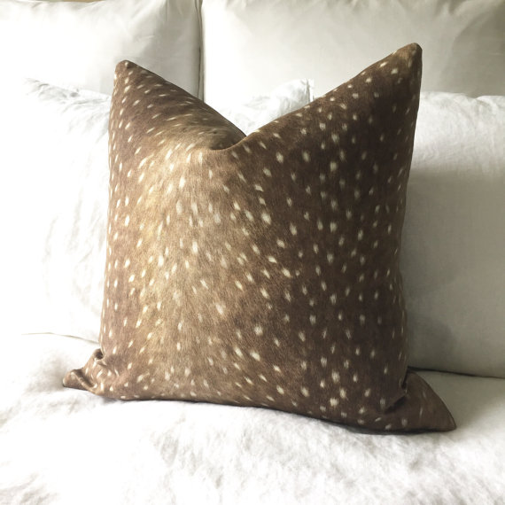 Faux Deerskin Pillow : 25 Favorite Cozy Chic Pillows