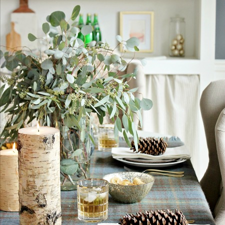 Cozy Holiday Dining Room + Home Goods Giveaway