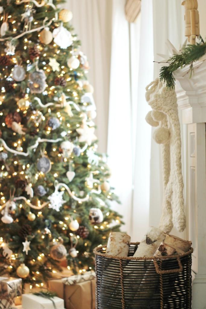 Cozy + Casual Modern Farmhouse Christmas Tour-Pottery Barn Knit Stockings