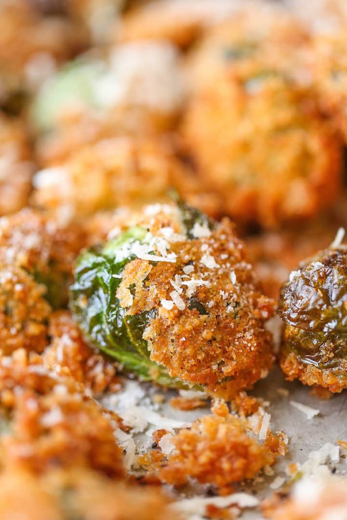 Best Holiday Recipes - Parmesan Brussel Sprouts - Damn Delicious