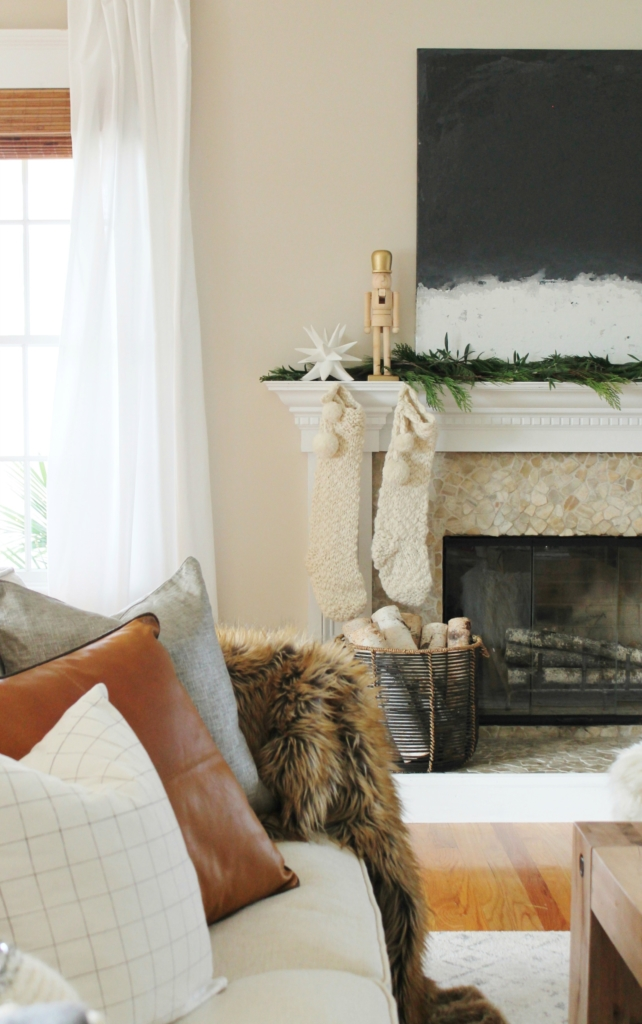 Cozy casual modern farmhouse christmas tour for Minimalist home goods
