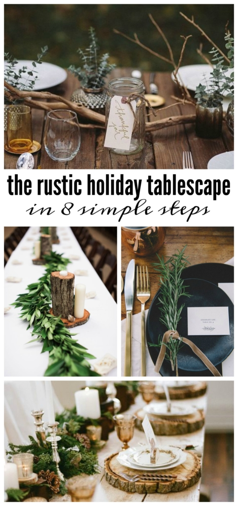 Brilliant ideas for a rustic tablescape being kind