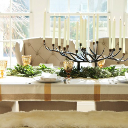Holiday Dining Room-Recipe + Decorating Ideas