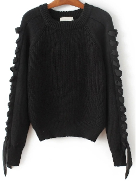black-lace-up-sweater