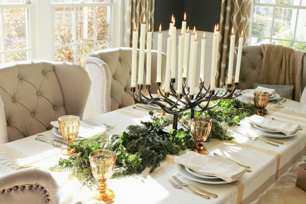 city-farmhouse-dining-room-with-birch-lane-beuatiful-antler-candle-holder