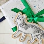 Paint Splatter + Sharpie Wrapping Idea Using Ikea Paper