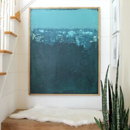 Abstract Art For Den + Easy Modern Wood Frame