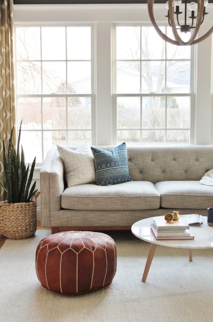City Farmhouse Den Reveal Pre Paint-Article Sofa