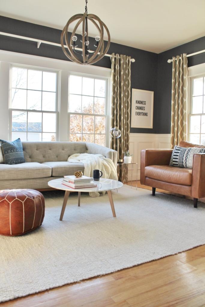 City Farmhouse Den Reveal Pre Paint-Cozy & Modern Space