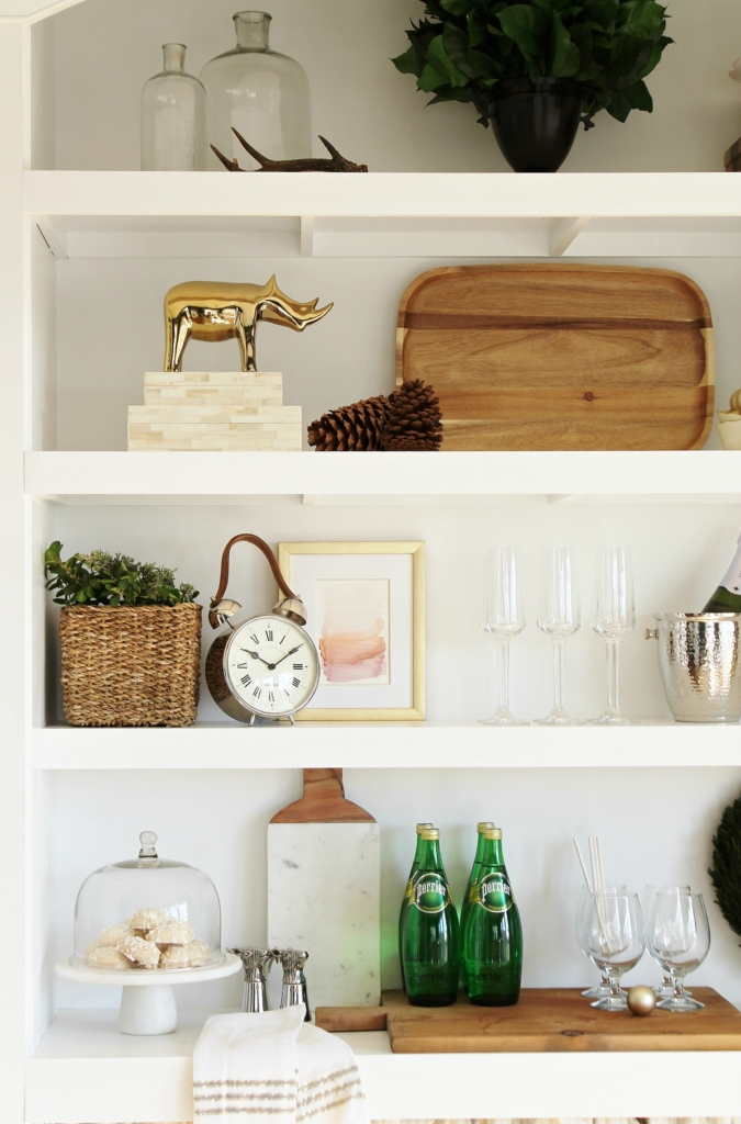 City Farmhouse Holiday Dining Room With Birch Lane Bookcase