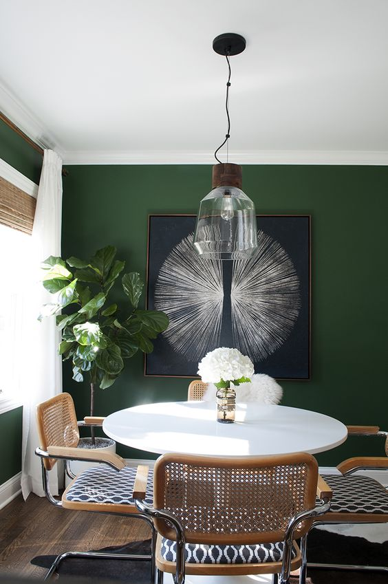 Room for Tuesday-Green Walls Emerald Sherwin-Williams
