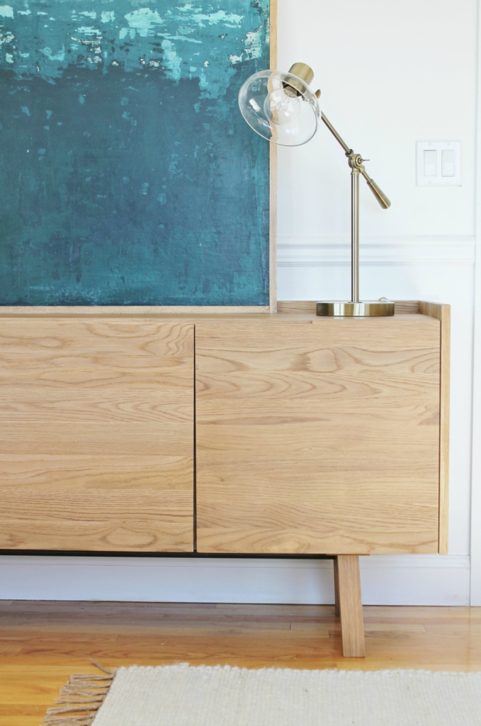 City Farmhouse MId-Century Sideboard , New Den and Abstract Art