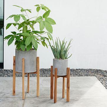 Dekorationly.com West Elm Knock Off Mid-Century Planter + Hoe ik meer dan $ 100 bespaarde planter knock century bespaarde