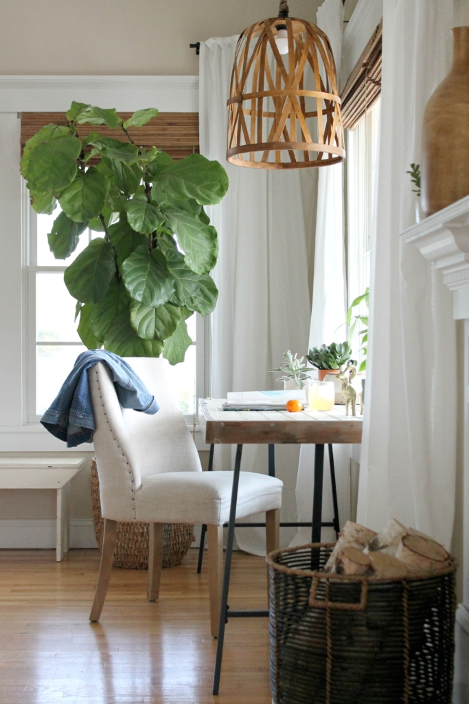 Easy diy woven pendant light from a target basket diy woven light made from a target basket aloadofball Choice Image