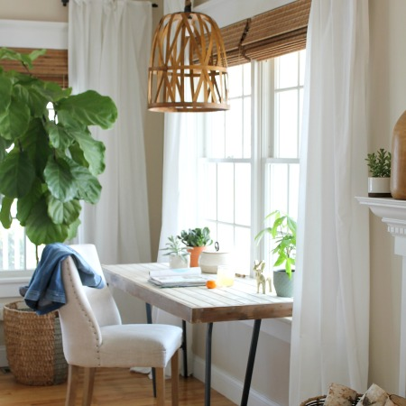 Easy DIY Woven Pendant Light From A Target Basket