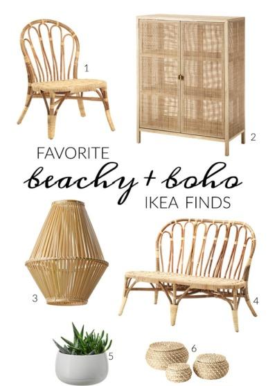 Favorite Beachy + Boho Ikea Finds