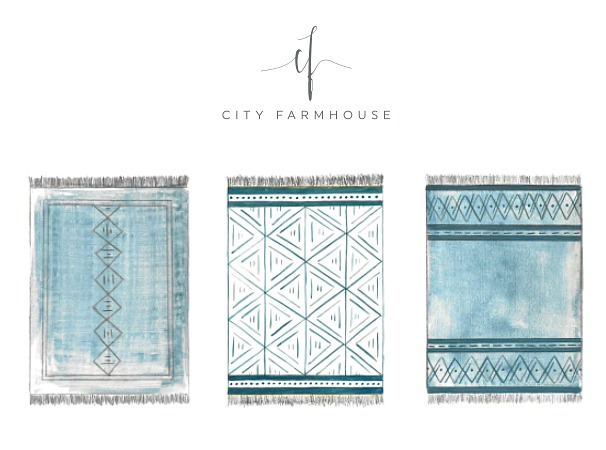 Annie Selke Rug Challenge-Beachy Boho Design Reveals + Voting