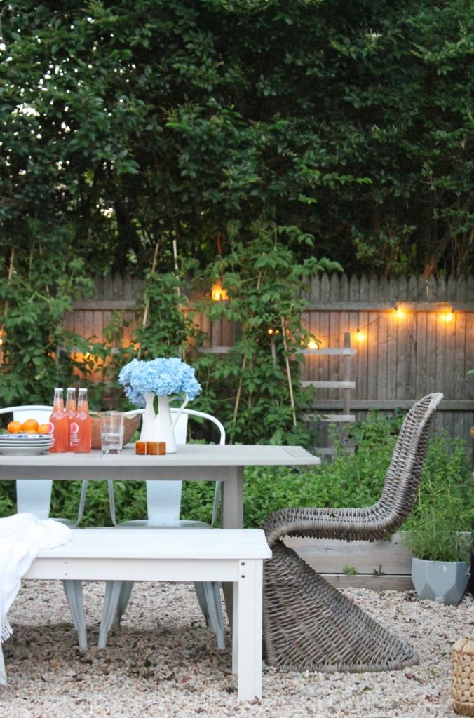 Nantucket Style Backyard